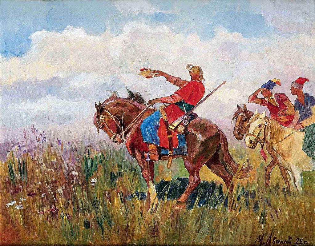 Картинки казаки в степи