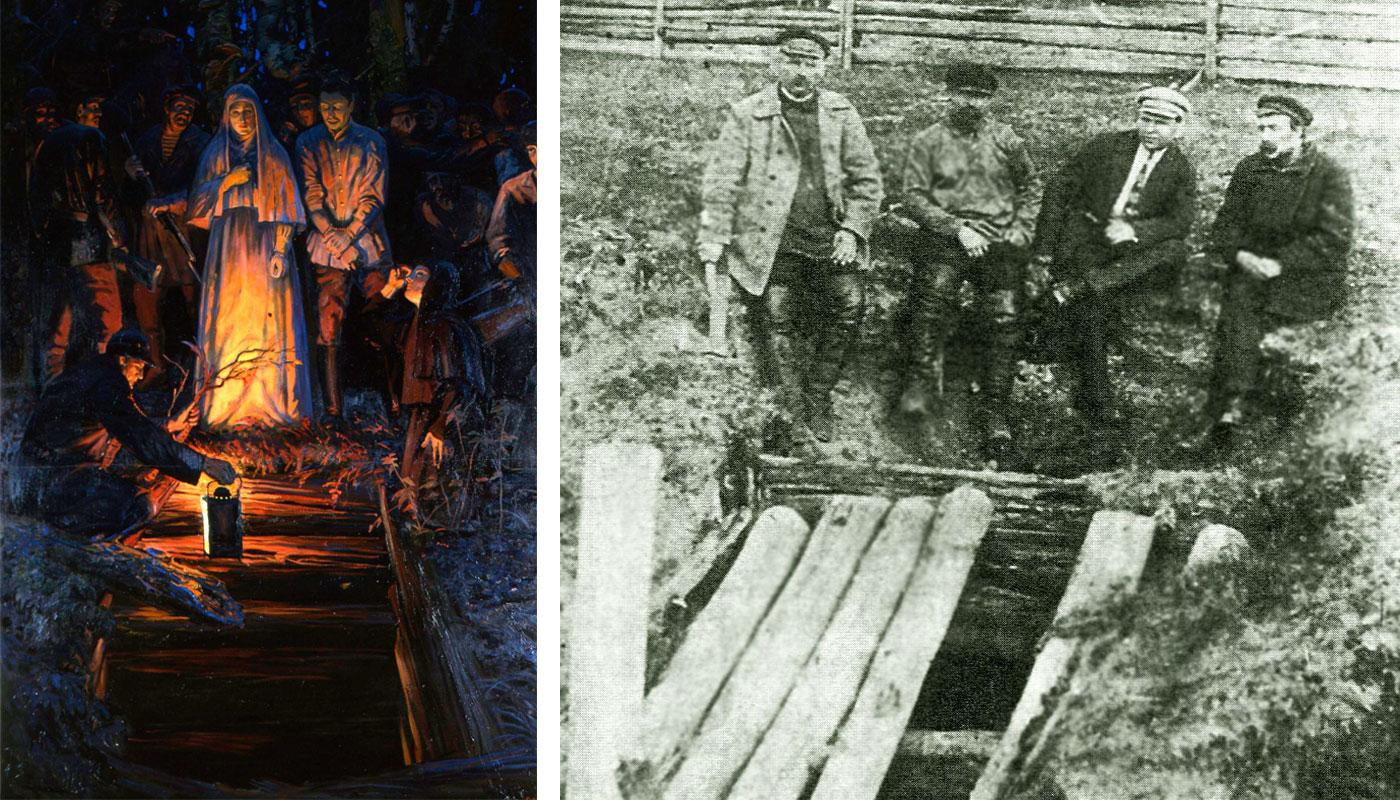 «Алапаевские мученики» и шахта, в которой они погибли