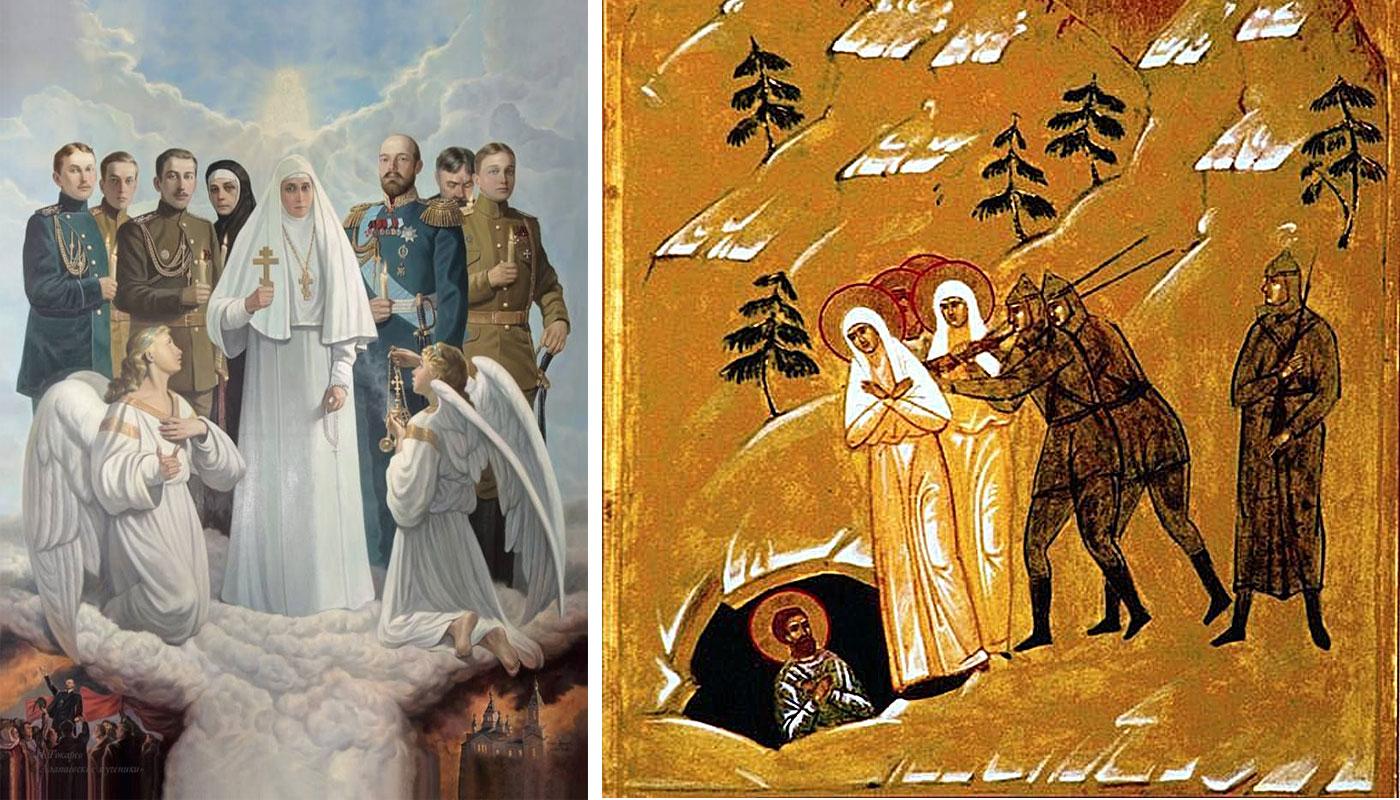 «Алапаевские мученики»: картина художника И.Токарева и икона «Преподобномученица великая княгиня Елисавета и инокиня Варвара»